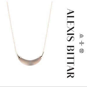 EUC Alexis Bittar Lucite Crescent Pendant Necklace